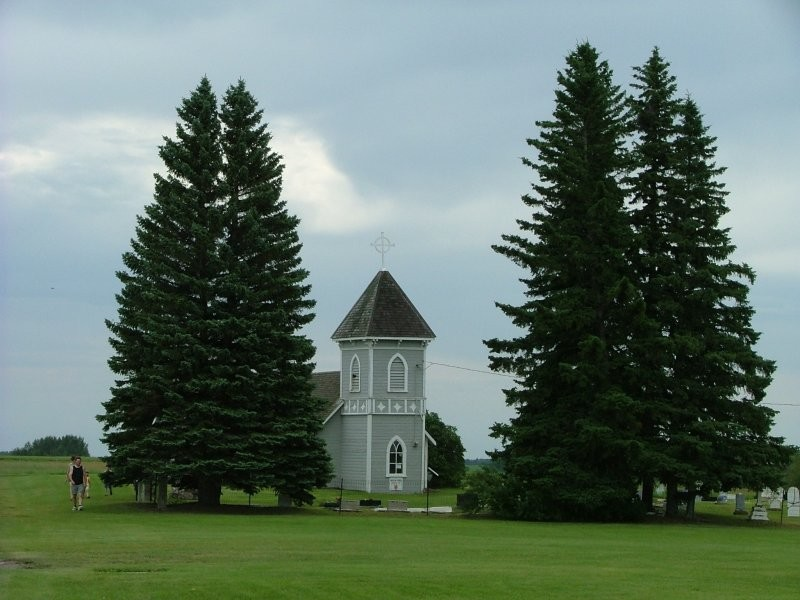 Cannington Manor Provincial Historic Park - All Saints Anglican Church, built in 1885, is still used today.