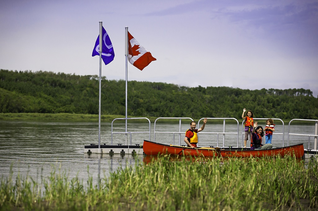 Canoeing at Batoche National Historic Site