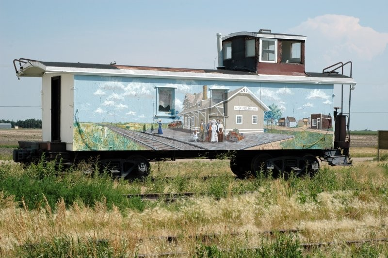 Caboose- Painted train car