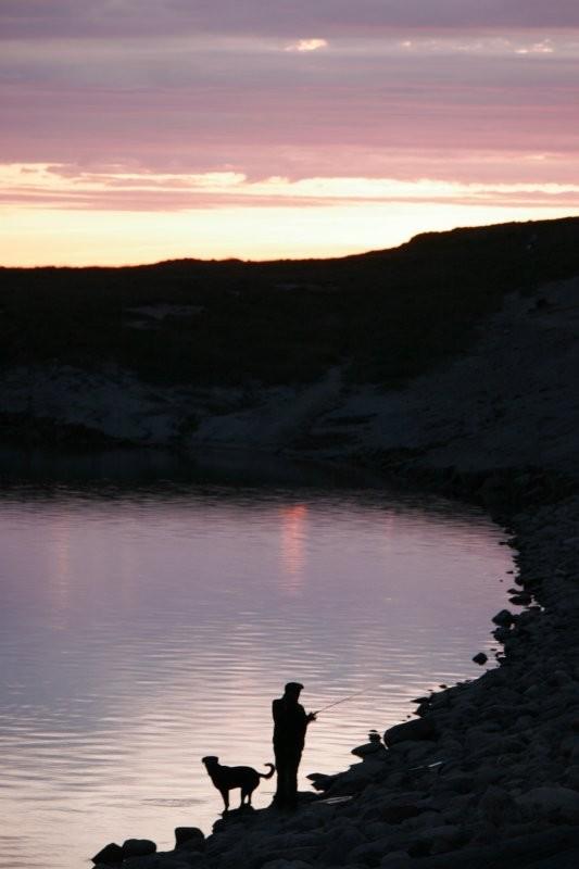 Fishing at the Rafferty Dam