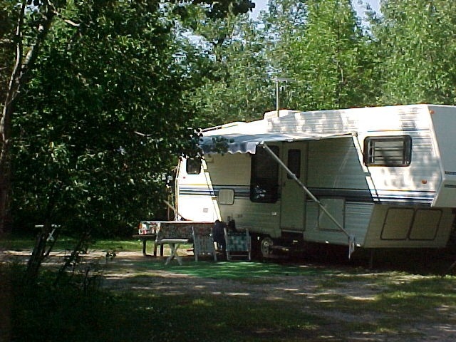 The Fish Creek Campgrounds offer a variety of campsites including electrical and non electric, as well as playground, shower, and washroom facilities.
