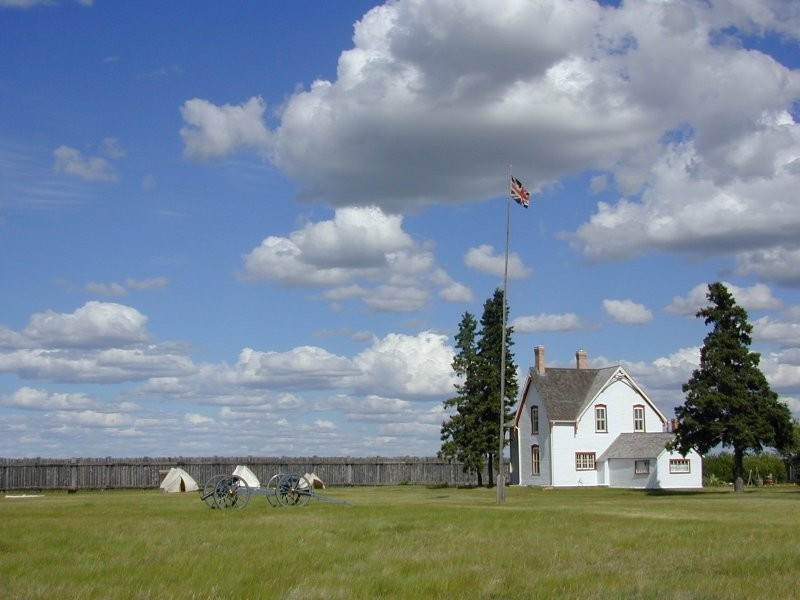 Commanding officers residence within the stockade walls at Fort Battleford