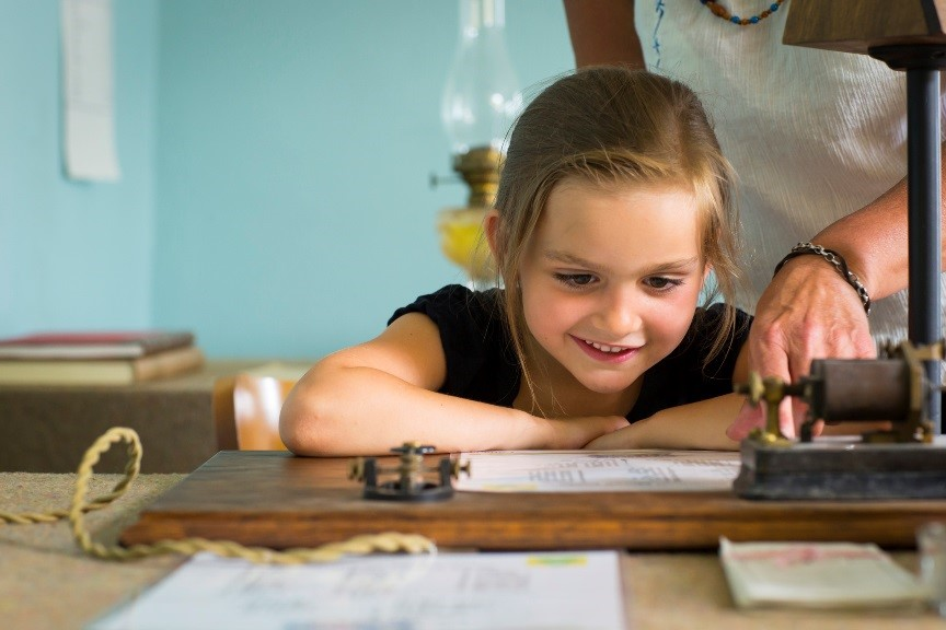 Children of all ages can check out the telegraph at Fort Battleford