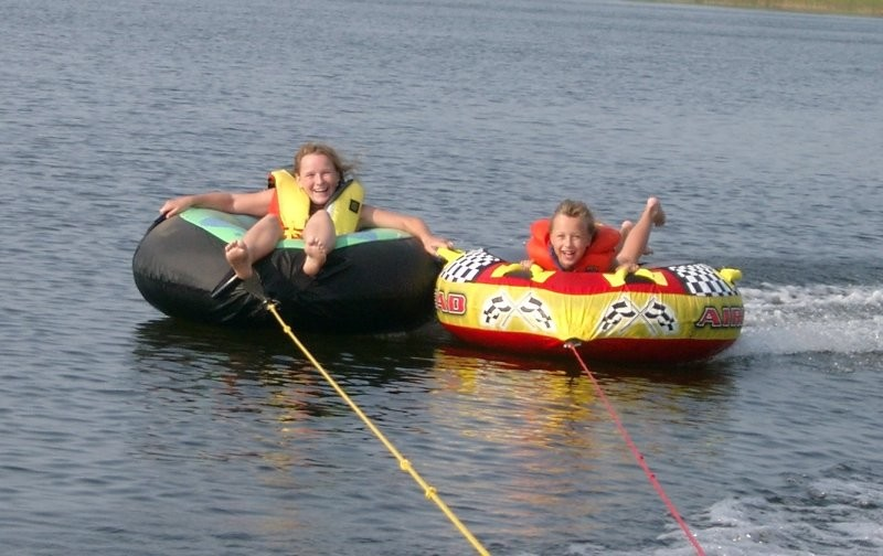Tubing at Ruby Lake - Ruby Lake  provides  recreation for boating activities, a beach for swimming, playground, picnic sites and camping