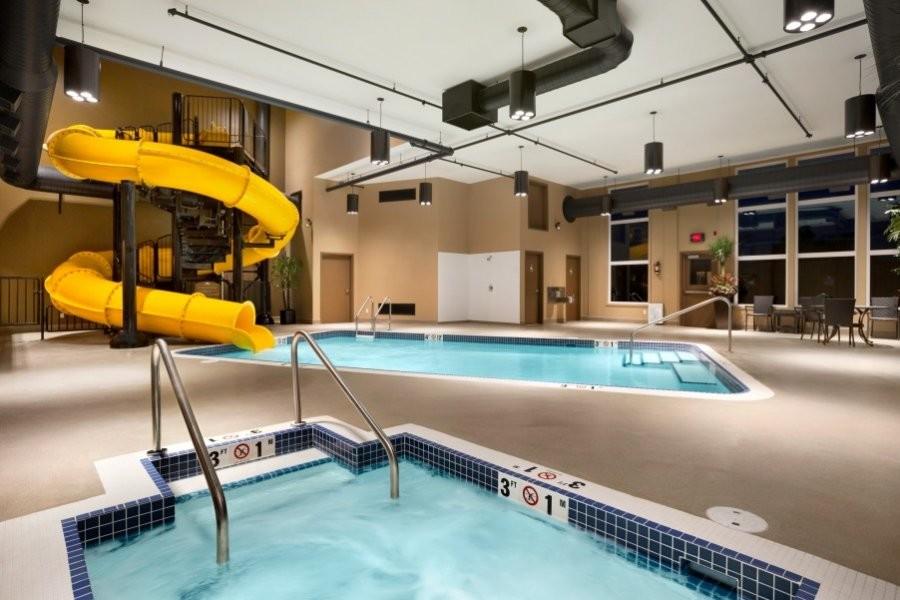 Microtel Inn And Suites By Wyndham Lloydminster Indoor Pool Waterslide