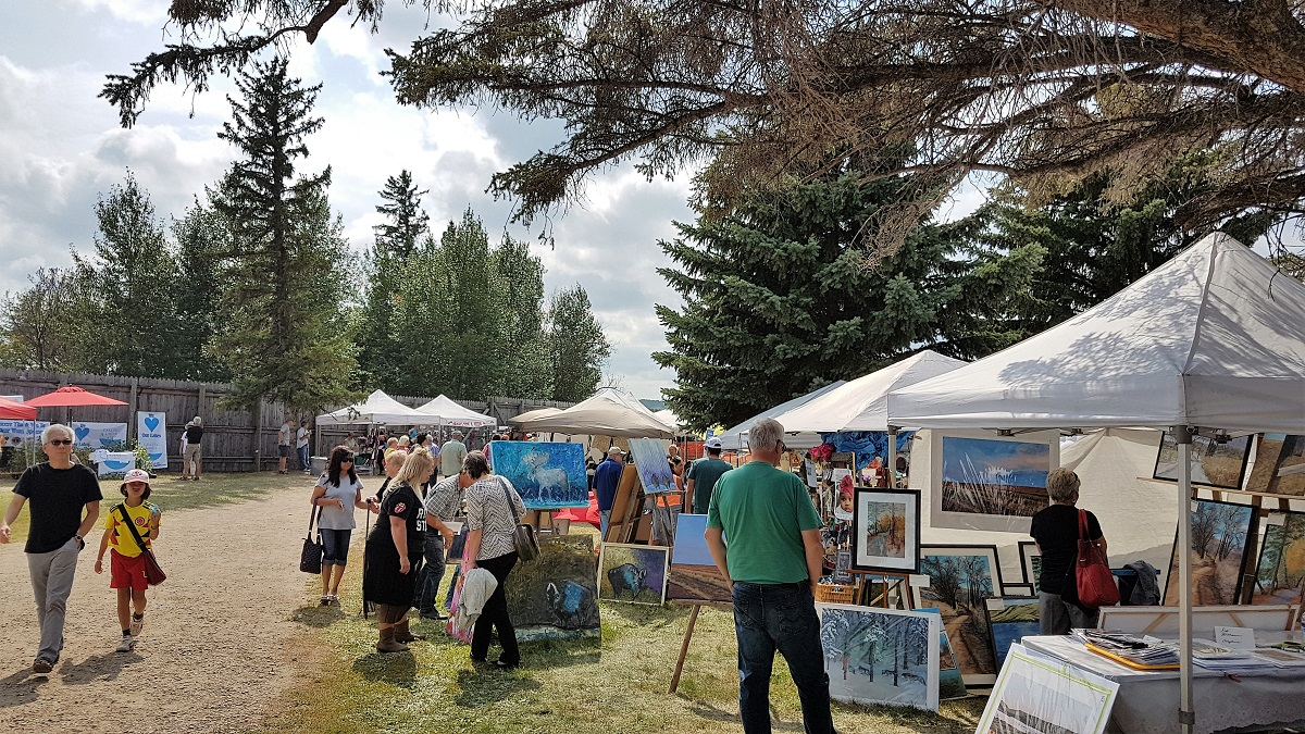 """Mid Summer's Art Festival held annually at """"the Fort"""" on the Saturday of August long weekend"""