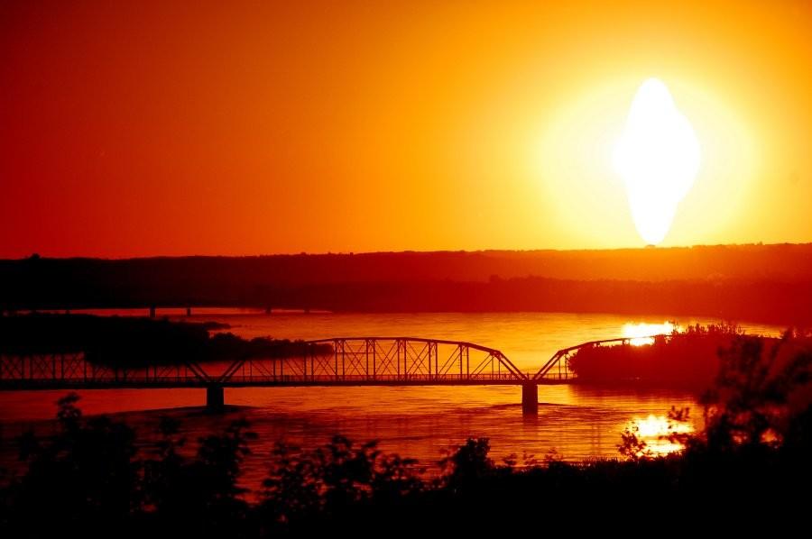 North Battleford - Bridge at Sunset