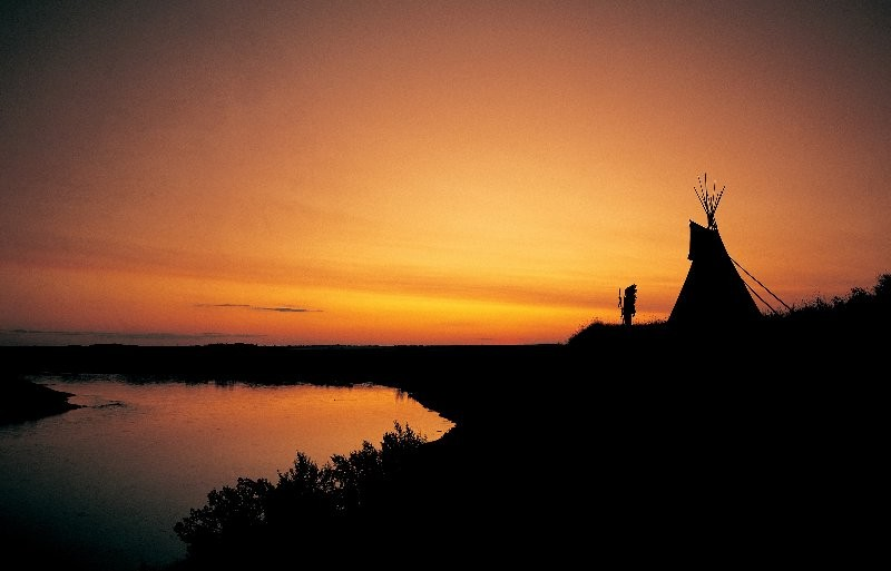 Sunset at Wanuskewin Heritage Park (National Historic Site)