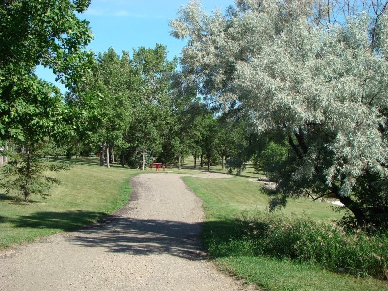 Picturesque scenery along paved walking paths on the Tatagwa Parkway Trail System
