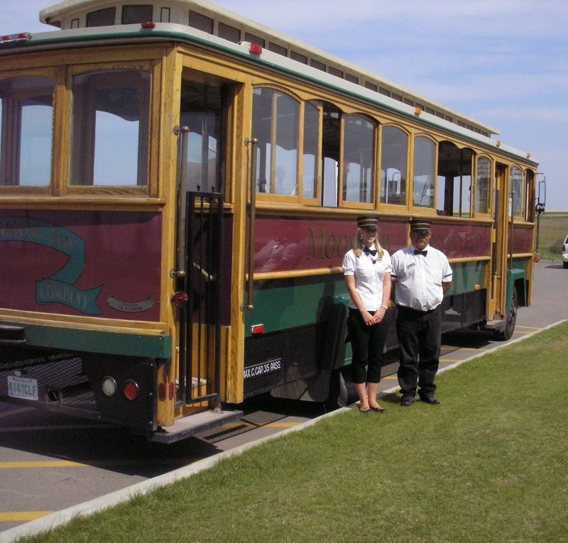 All aboard!  Sit back, relax and enjoy an hour-long trolley tour.